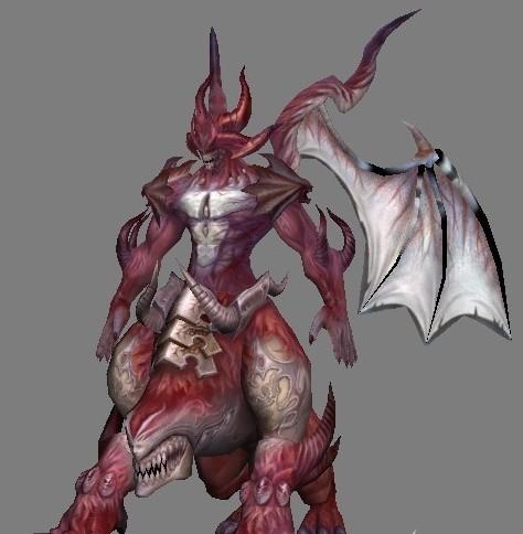 红色龙魔下载  游戏角色模型