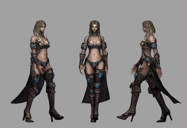 游戏美女法师模型下载