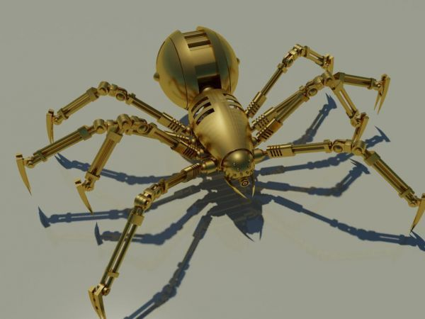 3DSMAX变形机器蜘蛛模型