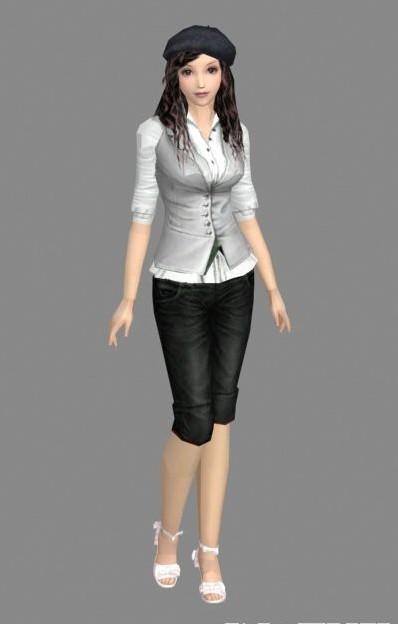 现代时尚女孩模型下载