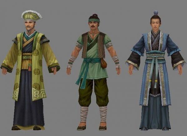 古代男人军士服饰模型下载
