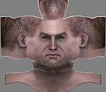 西方男人头像面部贴图绘制下载