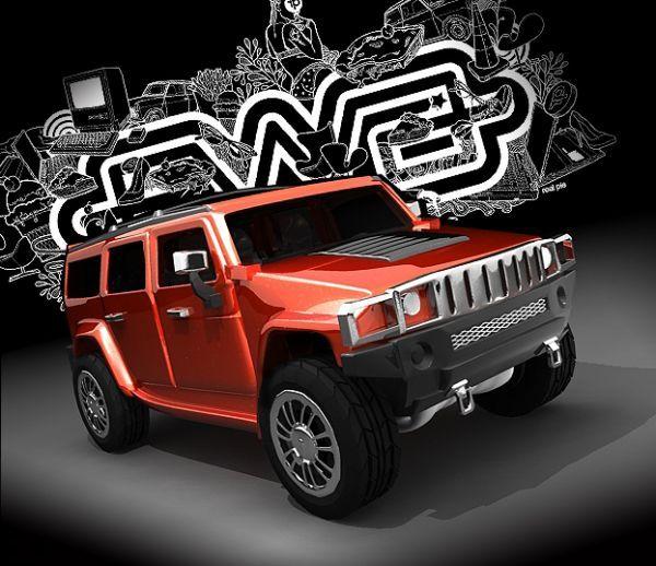 悍马--H3车 MAYA模型