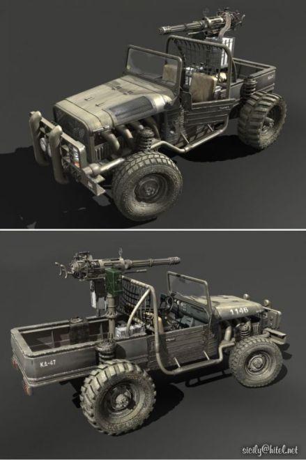 军用JEEP车模型下载