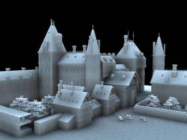 欧洲小镇模型