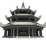 皇宫祭祀塔模型下载