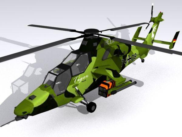 欧洲武直-虎(德国陆战)直升机模型