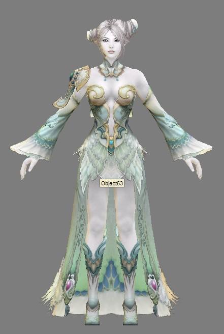 游戏女神模型-游戏美女角色模型