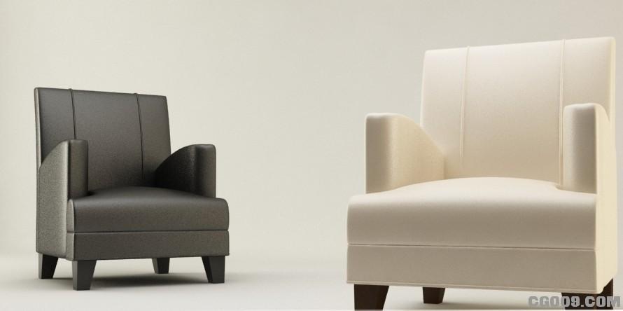一组很现代休闲的沙发模型下载