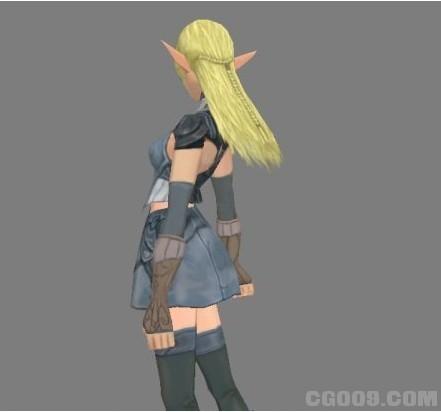 天堂2女精灵战士模型