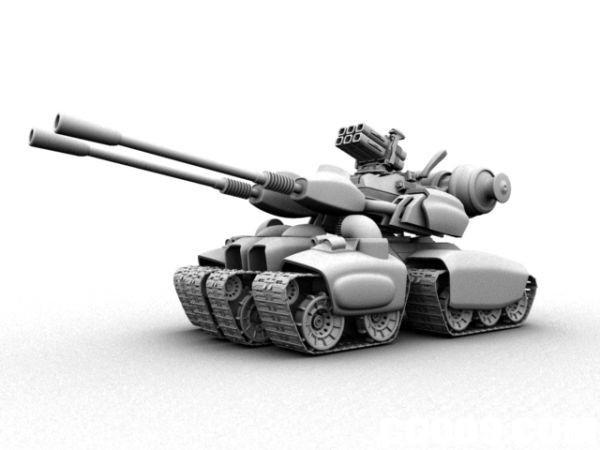 坦克MAYA模型