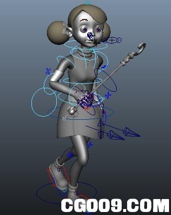 带骨骼绑定的超可爱女孩