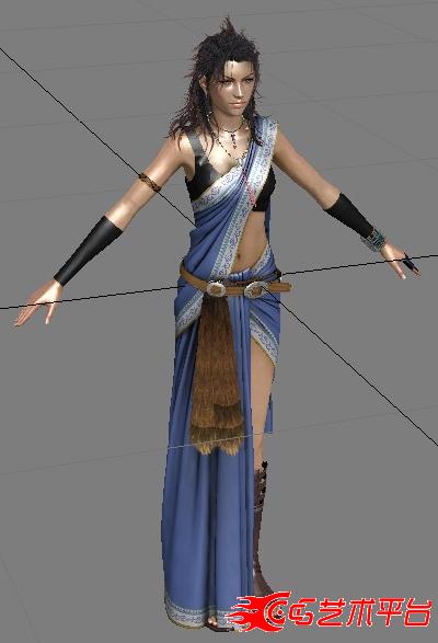 帅气的云芳 (最终幻想13) 3D 很多版本都可以用
