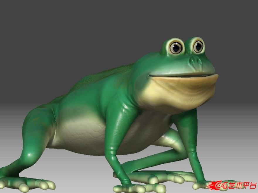很可爱的青蛙王子模型下载