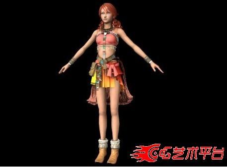 最终幻想MAYA模型 vanille美眉模型