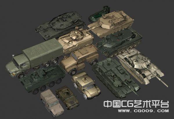 军事模型集 飞机 坦克  舰艇  装甲车