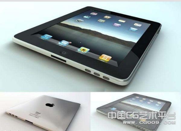 [平板电脑]iPad苹果平板电脑模型  iPad3D模型下载