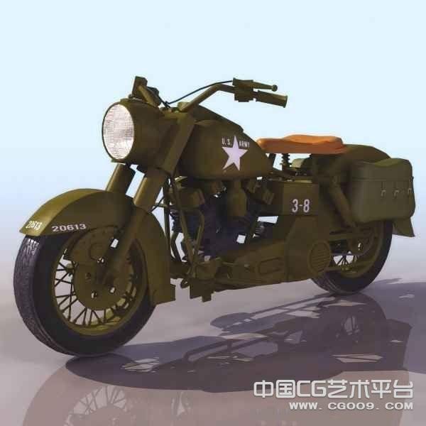 二战期间日本鬼子专用摩托车 军用老式摩托车模