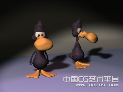 非常可爱的黑色鸭子(WarpedDuck )模型下载