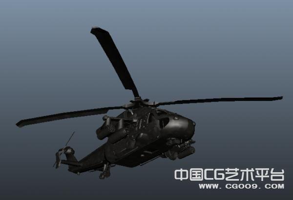 黑鹰直升飞机模型3D下载
