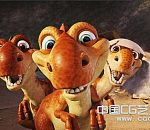 <<冰河世纪3>>三只可爱的龙宝宝模型下