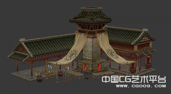 铁匠铺3D模型下载
