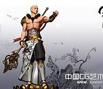 <<凡间>>帅气和尚3D角色模型下载