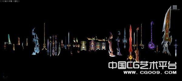天下2游戏角色模型场景模型武器模型