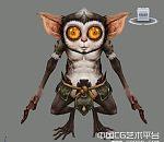非常卡通的精灵古怪的猴子模型下载  猴子精灵
