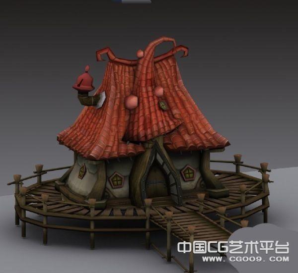 小精灵的奇幻小屋场景模型下载  3D小屋模型
