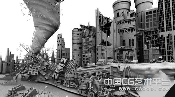 2012世界末日特效3D场景模型下载