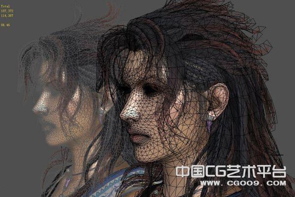 非常精细的3D游戏头部发型模型下载  带高清贴图