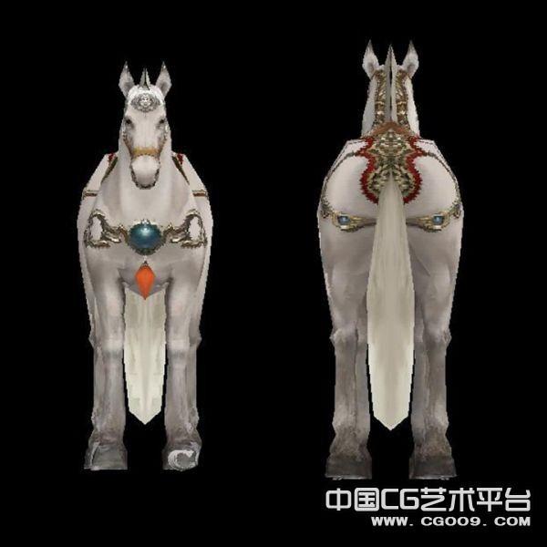 白龙马3D模型下载