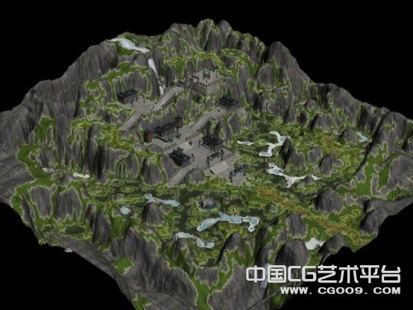 天龙八部-星宿派3D游戏地图模型下载