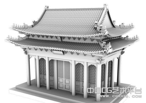 中式精细的皇家建筑