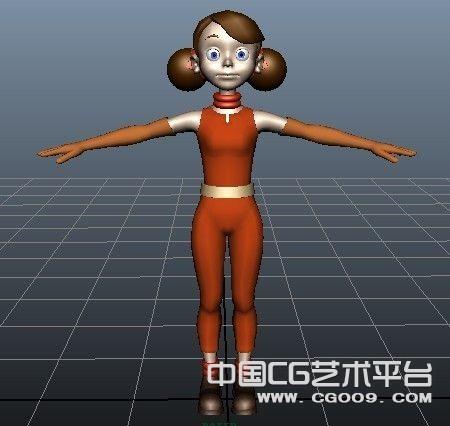3D卡通可爱女孩模型带贴图