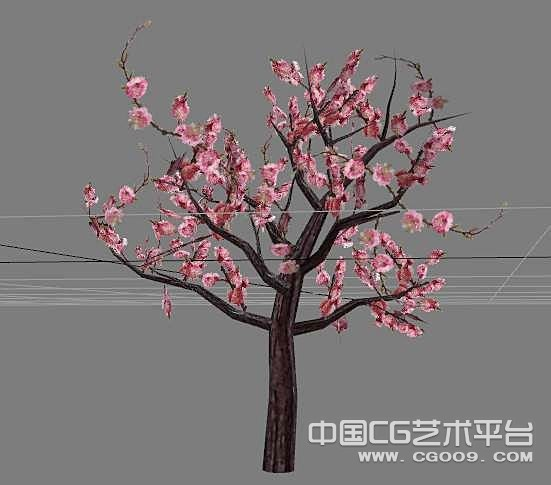 一棵桃树3D模型下载  桃花树模型