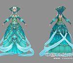 天堂II-蓝色女精灵3D游戏模型下载