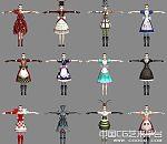 《爱丽丝疯狂回归》12套时装秀模型套装下载