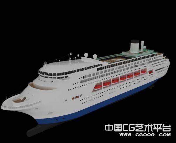 大型豪华游轮3D模型下载