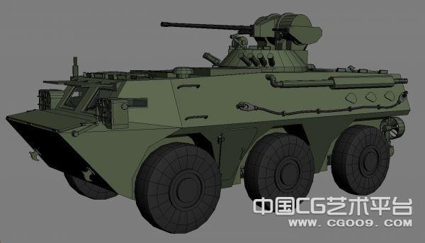 PLA 的ZSL92A轮式装甲输送车--原创+制作步骤说明