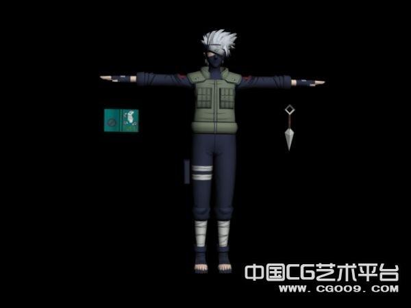 火影忍者3D角色模型-卡卡西3D模型下载