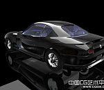 黑色奥迪A8跑车模型下载   vray 渲染