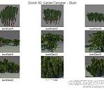 一组3D灌木模型集合下载(总共十几套)一