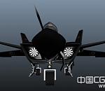 中国J20第五代隐身战斗机3D模型下载