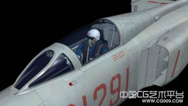 电影级别的战斗机J8-2贴图模型下载