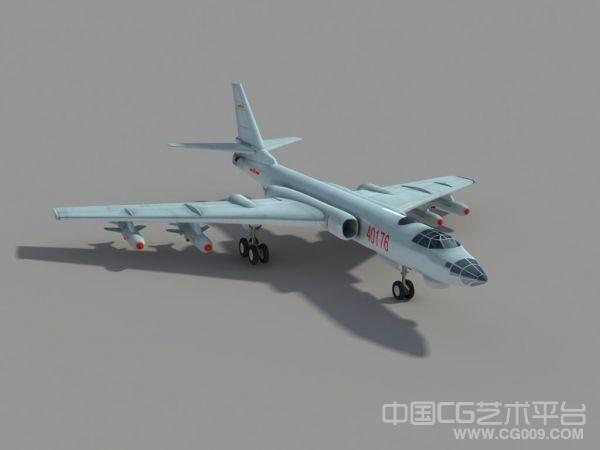 中国第6代轰炸机轰6H3D模型下载