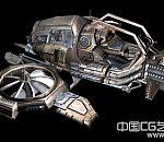 次时代科幻战机3D模型下载
