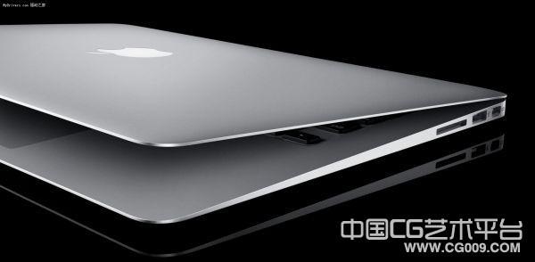 苹果笔记本电脑3D模型下载  带贴图