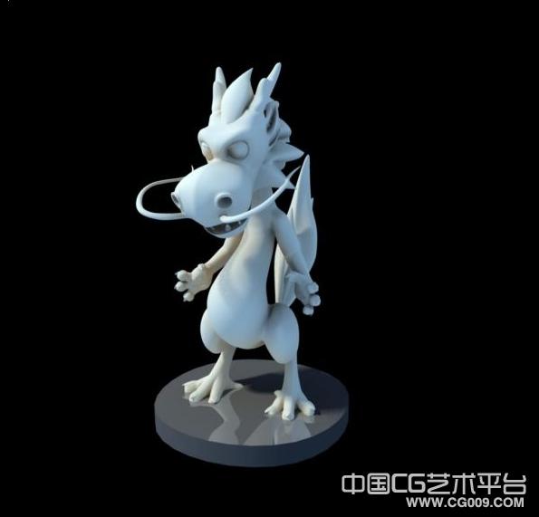 可爱的小龙仔3D模型下载